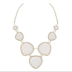Kendra Scott rebecca bin necklace white